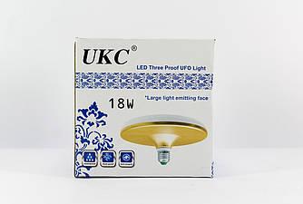 Светодиодная лампочка - светильник LED UKC 1201 220V / 18W / E27 / плоская
