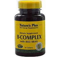Nature's Plus, Комплекс витаминов B с рисовыми отрубями, 90 таблеток