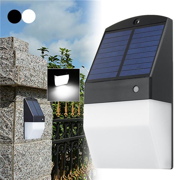 25 LED Солнечная Светильники Радар Датчик Белый/Теплый белый Водонепроницаемы Стена Лампа для На открытом воздухе Сад Забор 1TopShop