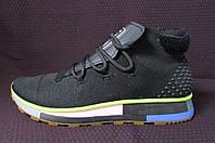 Мужские кроссовки Adidas (реплика) 6846 черные радуга код 5366А