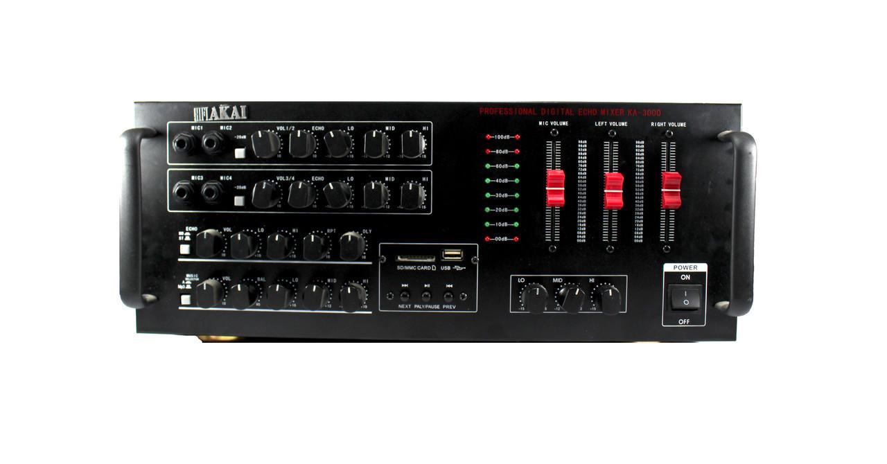 Усилитель звука  AMP 909 +  USB порт / Слот для карт памяти SD/MMC / Микрофонные входа