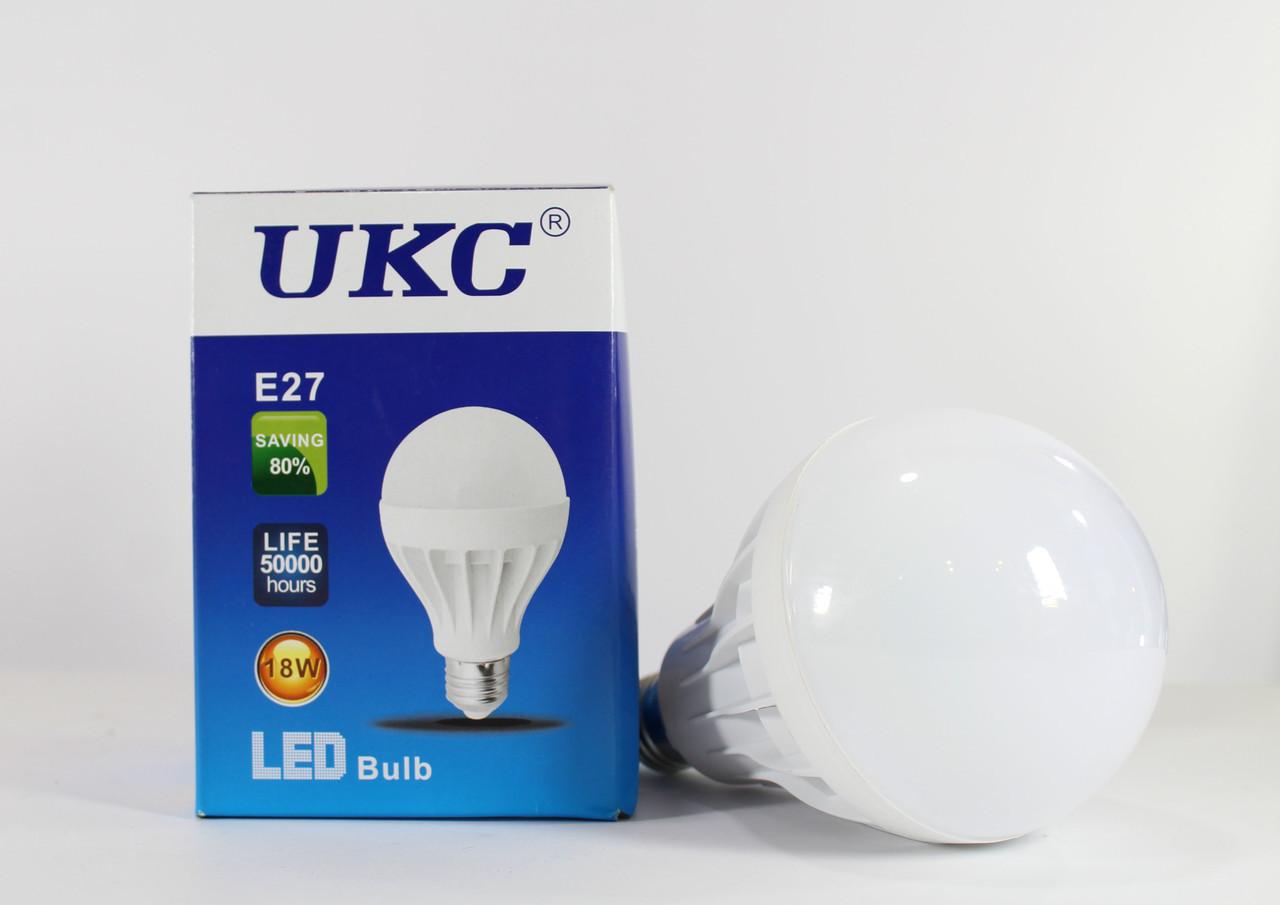 Энергосберегающая лампочка / круглая LED LAMP E27 18W UKC / светодиодная лампочка