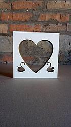рамка лебеди песочная церемония подарок на свадьбу купить