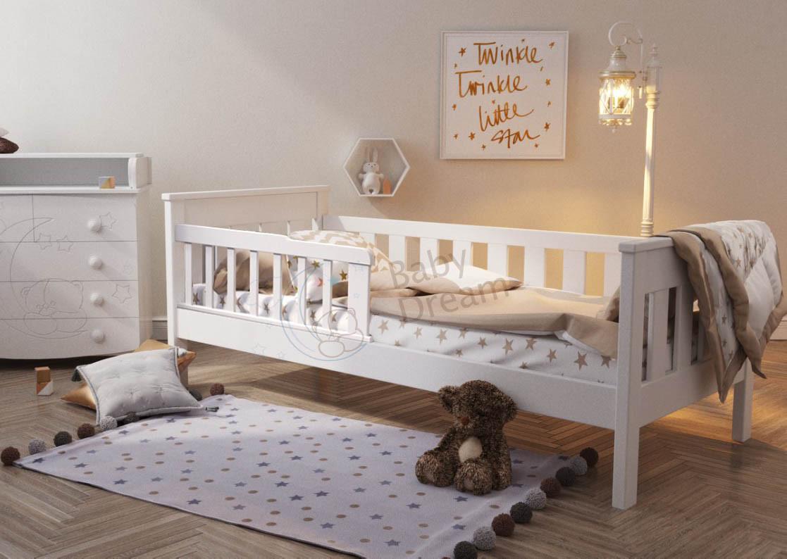 Детская кровать белая от 3 лет Infiniti