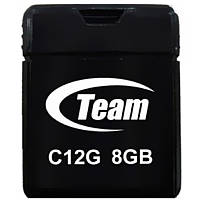 ϞФлешка Team C12G 8Gb (TC12G8GB01) Black для хранения файлов мультимедиа музыки видео игр