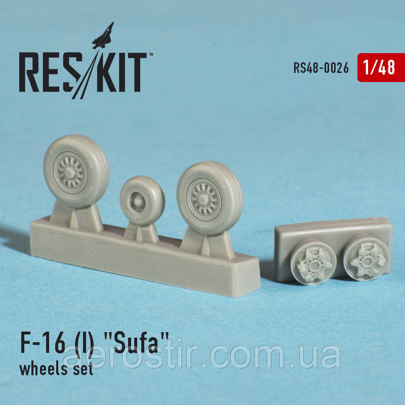 "General Dynamics F-16 (I) ""Sufa"" wheels set 1/48 RES/KIT 48-0026"