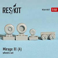 Dassault Mirage III (A) wheels set 1/48 RES/KIT 48-0027