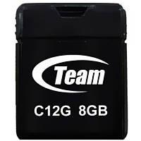 ➤Флешка Team C12G 8Gb (TC12G8GB01) Black компактная для хранения информации