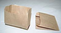 Пакет саше бумажный 110х100х55 карфт бурый жиростойкий
