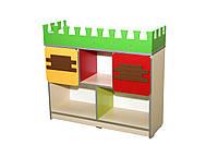 """Стеллаж для игрушек """"Высокий замок"""" секция № 6"""
