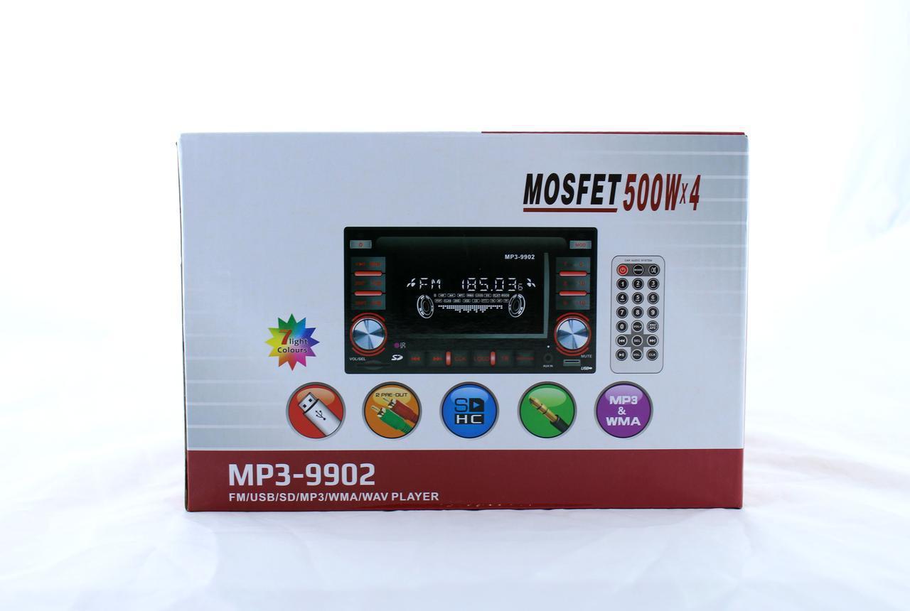 Автомагнітола MP3 / USB / AUX / FM 9902 2DIN з роз'ємом євро