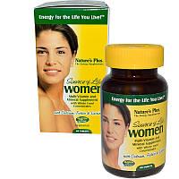 Natures Plus, Источник жизни, для женщин, мультивитамины и минеральные добавки, 60 таблеток