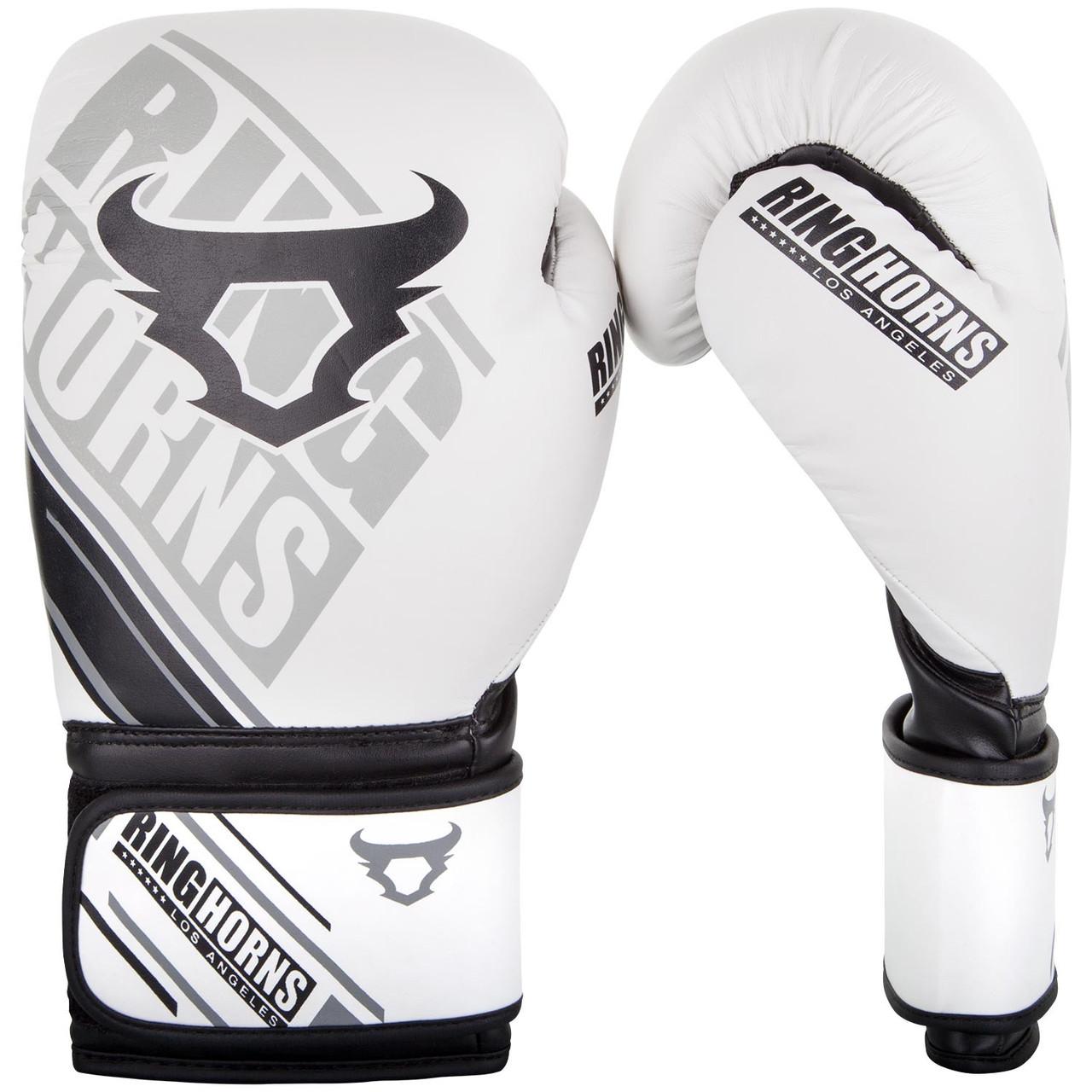 Боксерские перчатки Ringhorns Nitro White 10oz
