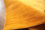 Ковер из натуральной шерсти оранжевого цвета тканный вручную, фото 4