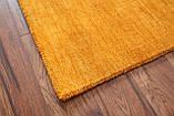 Ковер из натуральной шерсти оранжевого цвета тканный вручную, фото 7