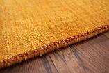 Ковер из натуральной шерсти оранжевого цвета тканный вручную, фото 8