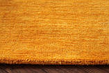 Ковер из натуральной шерсти оранжевого цвета тканный вручную, фото 9