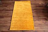 Ковер из натуральной шерсти оранжевого цвета тканный вручную, фото 2
