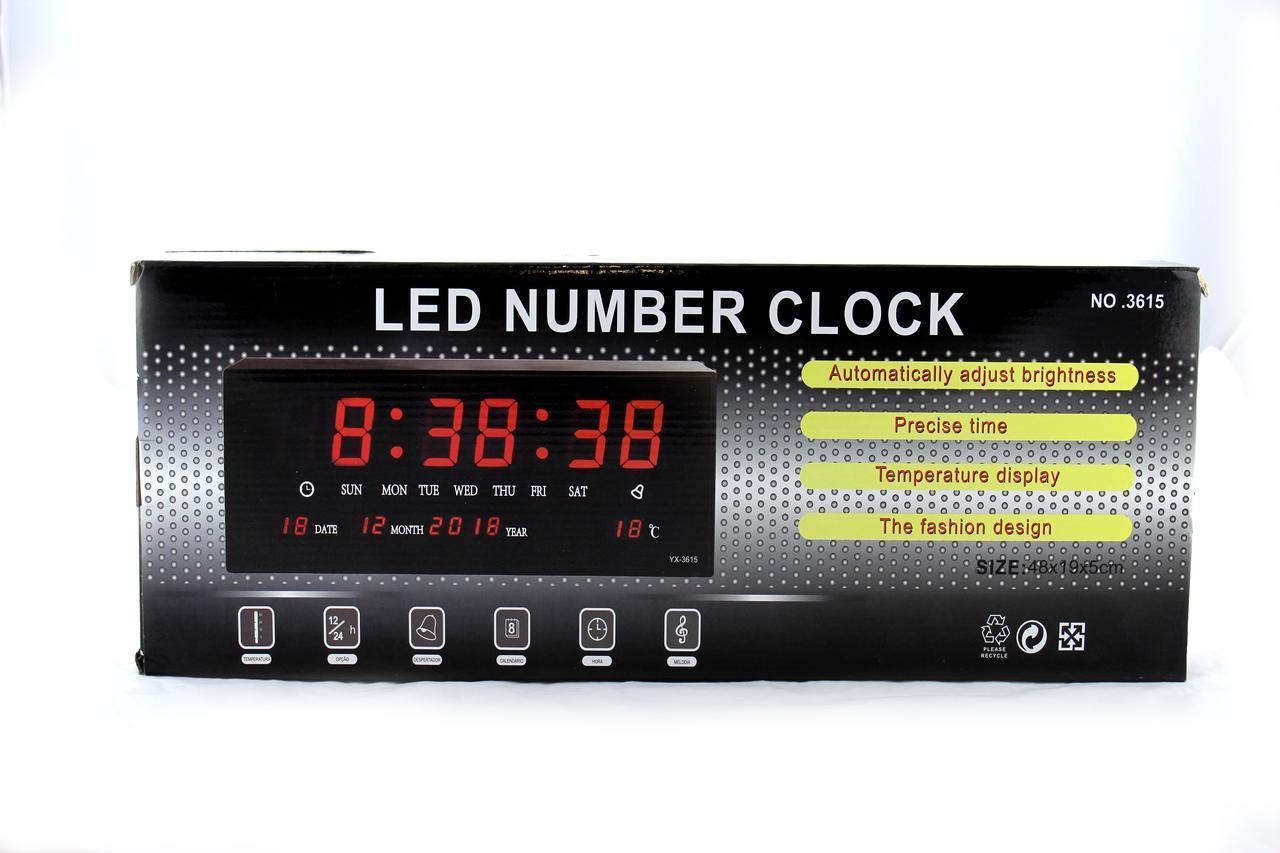 Часы Цифровые 3615 RED с красной подсветкой