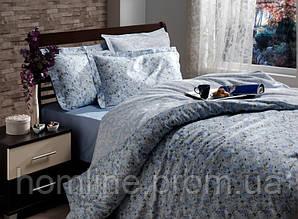 Постельное белье Storway сатин Calanthe V2 синий двухспальный евро размера