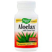 Алоэ вера (Aloelax) с фенхелем, Nature's Way, 530 мг, 100 капсул