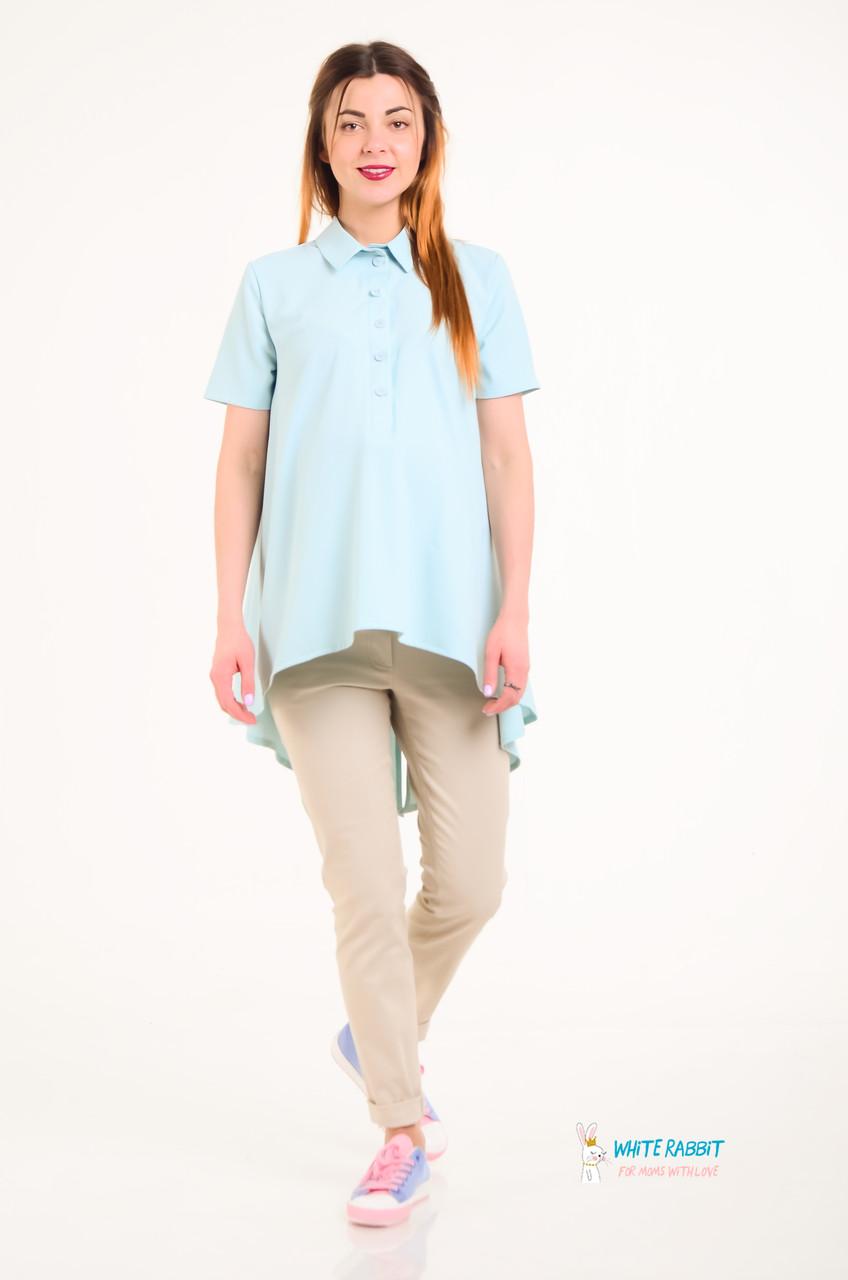 443f80e9cd84 Рубашка удлиненная для беременных и кормящих МАМ MIA (МЯТНЫЙ) S, цена 725  грн., купить в Харькове — Prom.ua (ID#719692123)