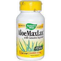 Каскара саграда с алоэ, AloeMaxLax, Nature's Way, 445 мг, 100 капсул