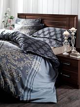 Постельное белье Storway сатин Cashmire V1 синий двухспальный евро размера