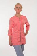 Медицинский женский костюм на молнии батист 42-56р. Хелслайф, фото 1