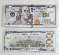 Сувенирные деньги- 100 долларов(новые)