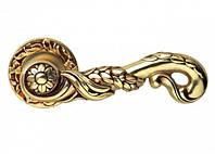 Ручка дверная на розетке Linea Cali Poesia 113 французское золото (Италия)