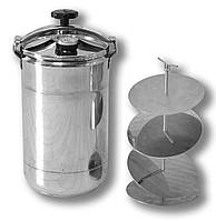 Автоклав кассетный бытовой Бинго Стандарт на 12 банок, нержавеющая сталь (касетний побутовий автоклав)