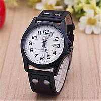 """Мужские наручные часы с датой """"Soki"""" черные"""