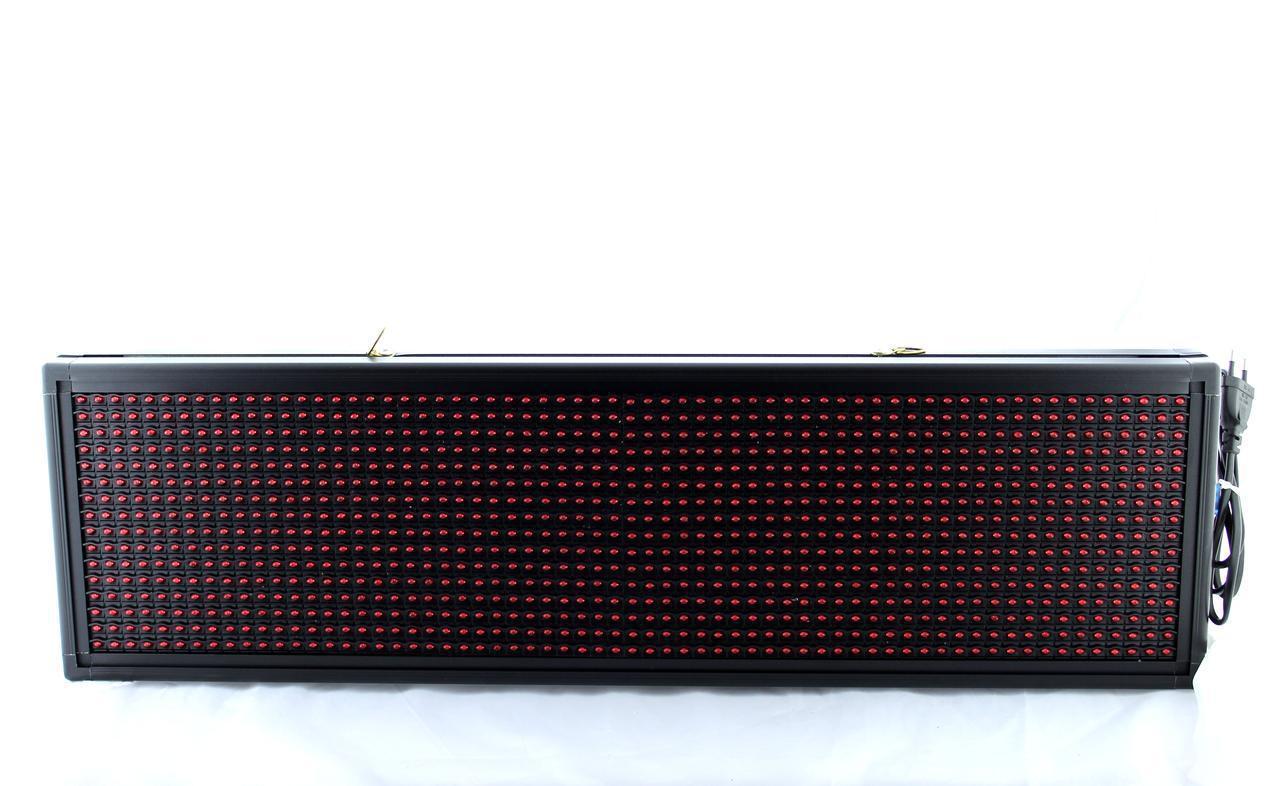 Бегущая строка с белыми диодами 135*40 White /Программируемые табло / Светодиодная LED вывеска
