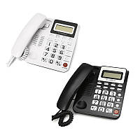 Телефон с фиксированной телефонной связью Телефонный стационарный телефон Big Button Рабочий стол для домашнего офиса