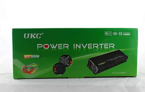 Профессиональный преобразователь / инвертор UKC  AC/DC RCP 2000W PROFESSIONAL