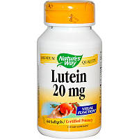 Лютеин (Lutein), Nature's Way, 20 мг, 60 капсул