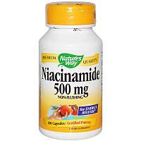 Витамин В3, Nature's Way, 500 мг, 100 капсул
