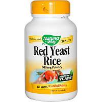 Красный дрожжевой рис, Red Yeast Rice, Nature's Way, 600 мг, 120 кап.
