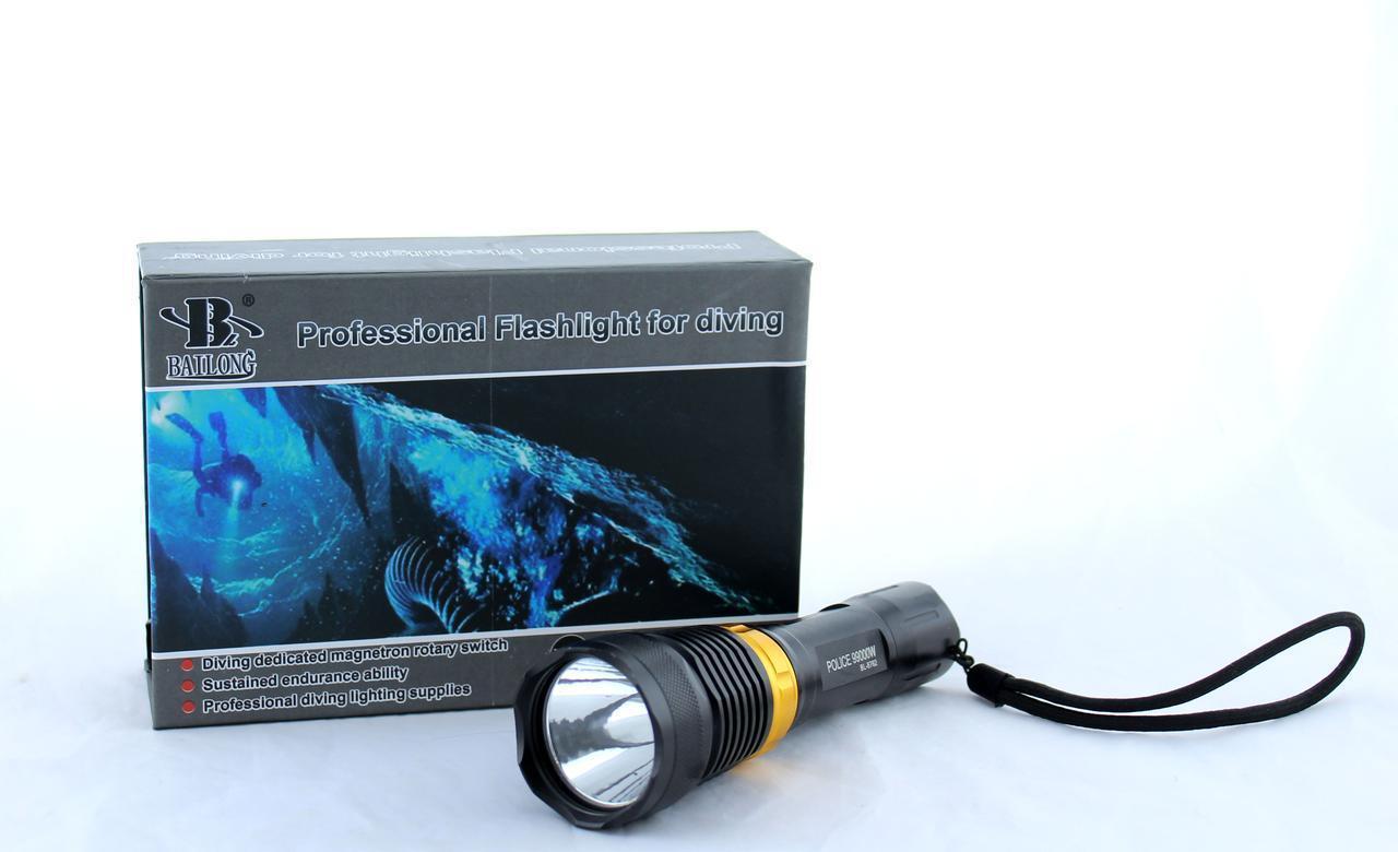 Фонарик BL 8762 XPE Подводный фонарь