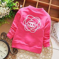 Кофта c цветочками для девочки мятная, фото 2
