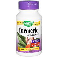 Куркума, Turmeric Standardized, Nature's Way, 60 кап.