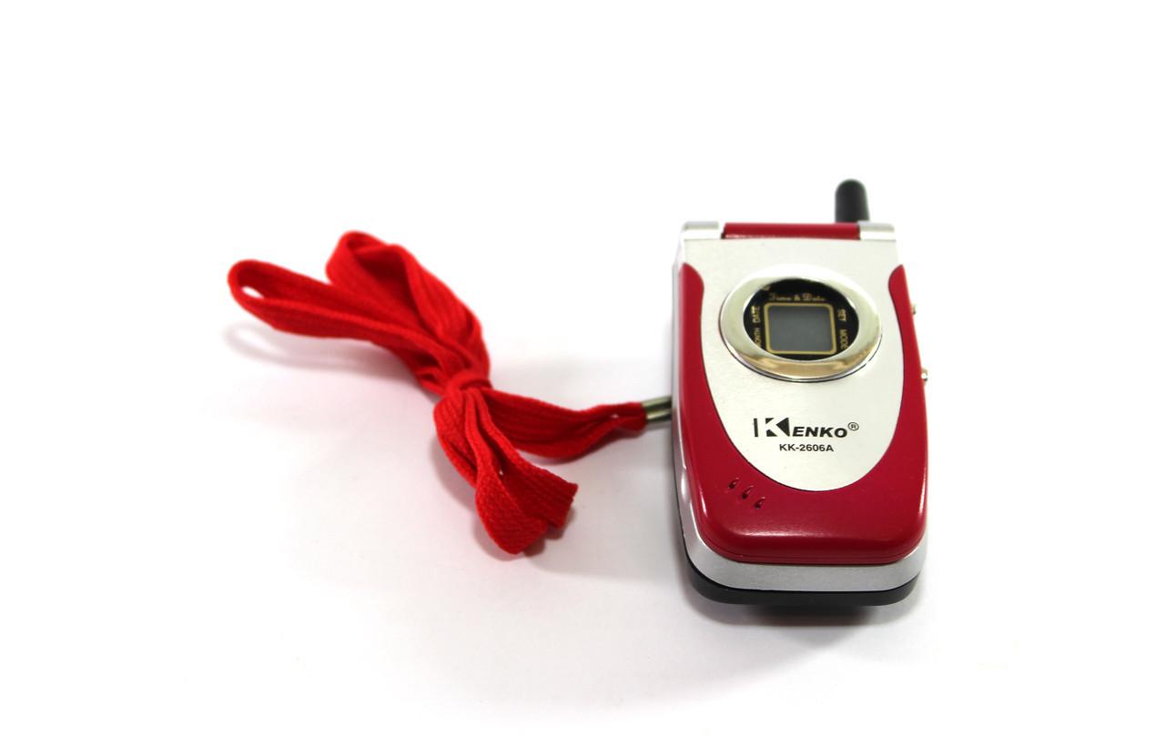 Калькулятор карманный KK 2606 A в виде мобильного телефона (под замену акб)