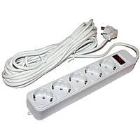 Сетевой фильтр Maxxtro серый 3м 5 розеток