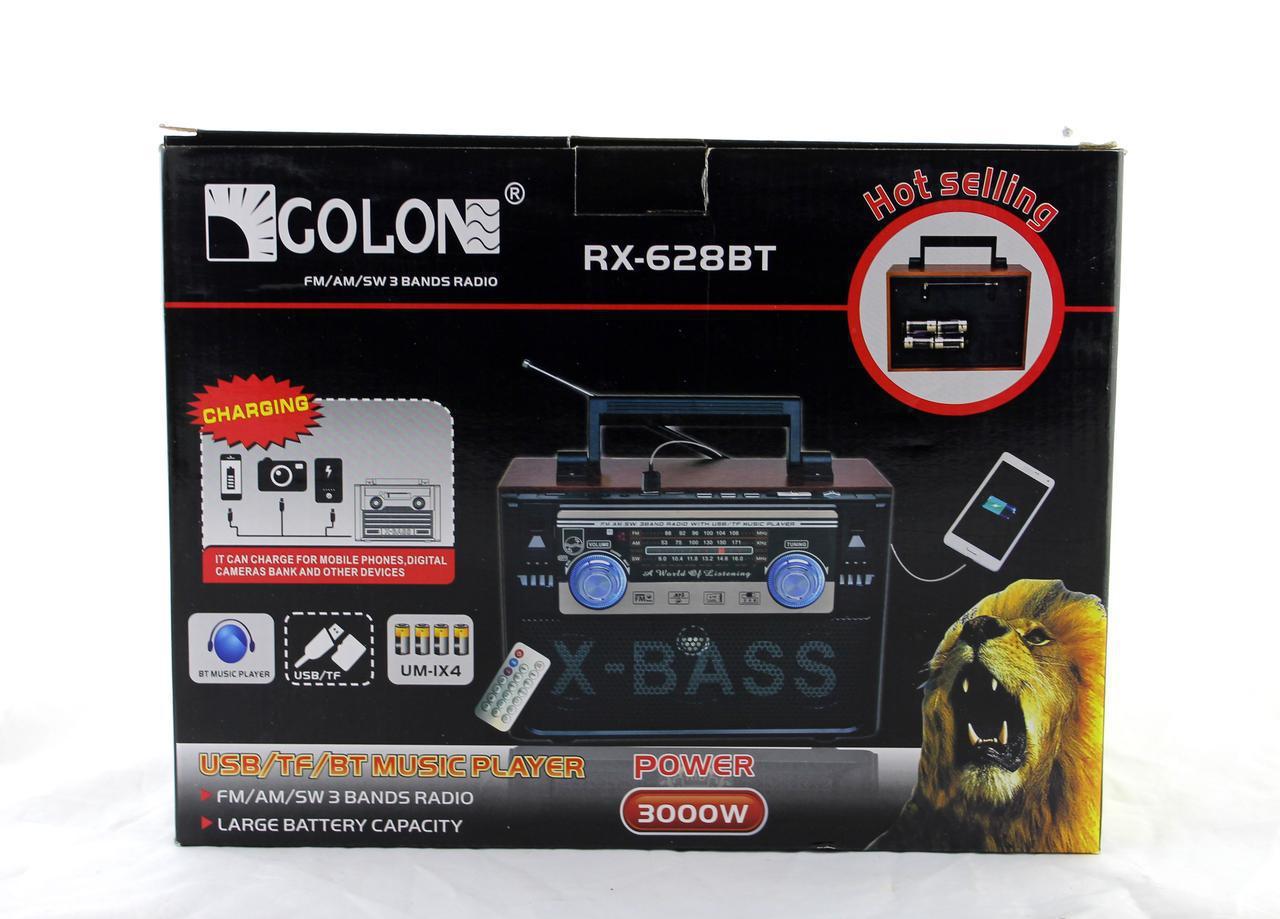 Радиоприемник Golon RX 638 BT портативная колонка bluetooth / USB /SD / MP3/ FM