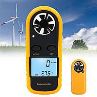 Цифровой LCD Анемометр Термометр Тестер скорости ветра в воздухе