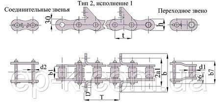 Цепи ТРД 38-4000-2-2-6-2, фото 3