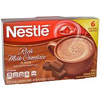 Какао со вкусом молочного шоколада, Rich Milk Chocolate, Nestle Hot Cocoa Mix, 6 пакетов, по  20,2 г