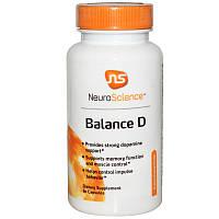 NeuroScience, Inc., Баланс D (Balance D), 60 капсул