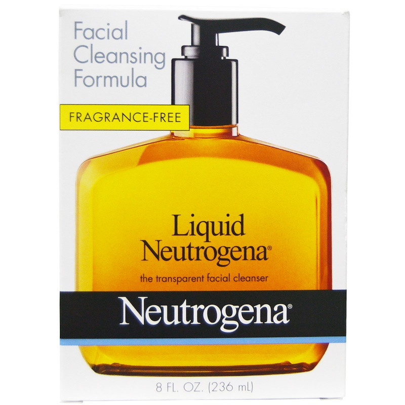 Neutrogena, Neutrogena жидкая, очищающее средство для лица, 8 жидких унций (236 мл)